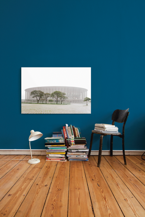 »Estádio Nacional de Brasília im Nebel« an deiner Wand - 11FREUNDE BILDERWELT