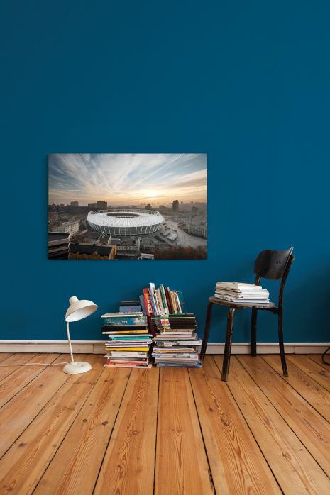 »Himmel über dem Olympiastadion Kiew« an deiner Wand - 11FREUNDE BILDERWELT