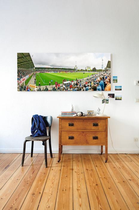holstein kiel holsten stadion stadionfoto als wandbild. Black Bedroom Furniture Sets. Home Design Ideas
