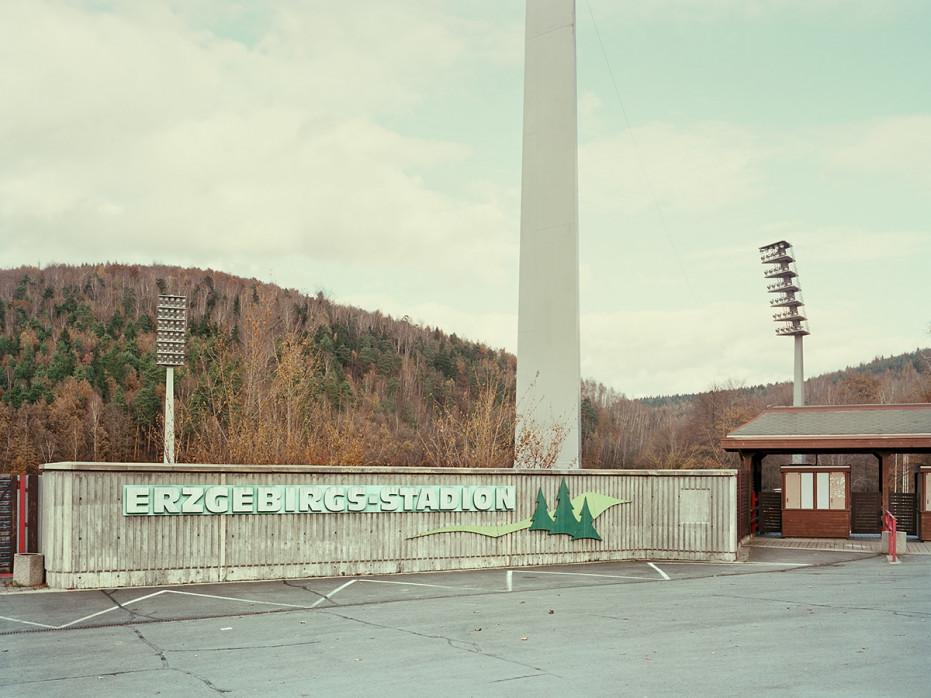 Witness of Glory Times: Aue - Markus Wendler - Stadion Foto als Wandbild