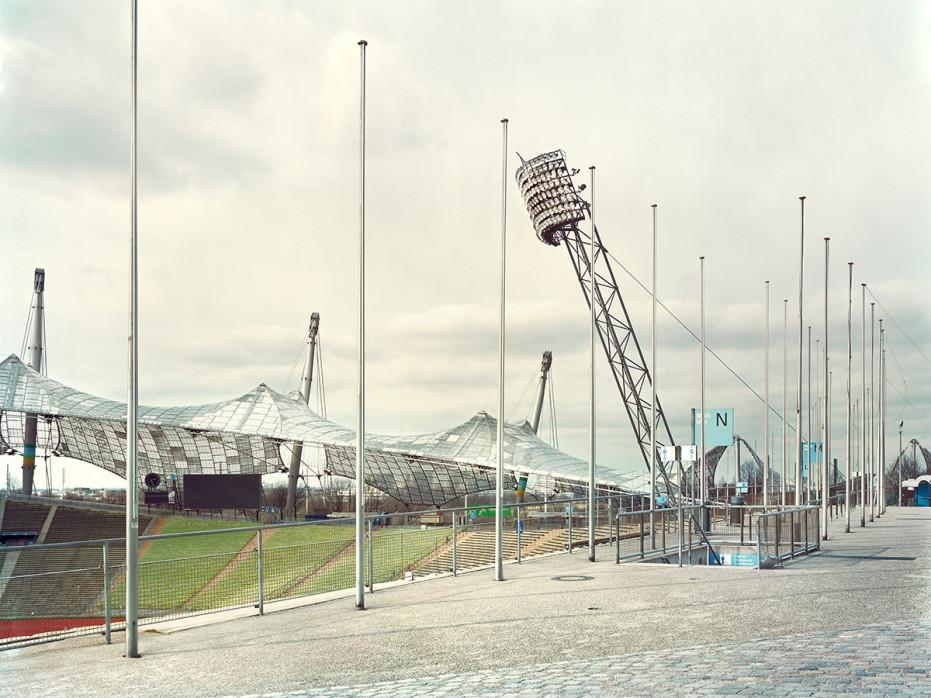 Witness Of Glory Times: München Olympiastadion (2) - Markus Wendler - Stadion Foto als Wandbild