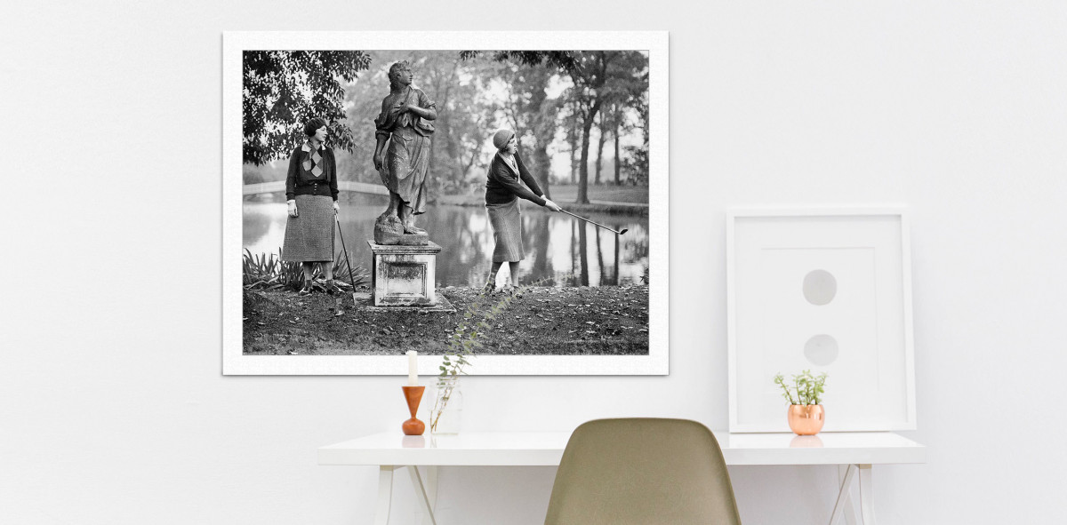 Damengolf in Ranelagh - Sport Fotografie als Wandbild - Golf Foto - NoSports Magazin