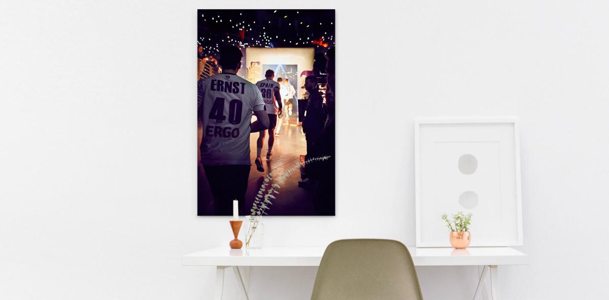 Einlauf der Handballer - Sport Fotografien als Wandbilder - Handball Foto - NoSports Magazin - 11FREUNDE SHOP