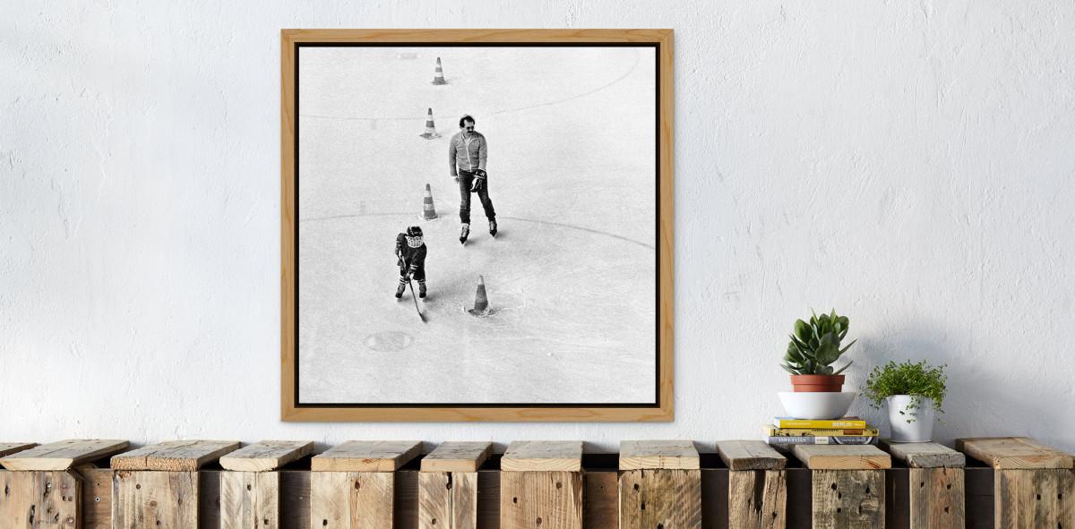 Eishockeynachwuchs in den Siebzigern - Sport Fotografien als Wandbilder - Eishockey Foto - NoSports Magazin