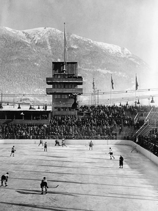 Kanada vs. Österreich 1930 - Sport Fotografien als Wandbilder - Eishockey Foto - NoSports Magazin