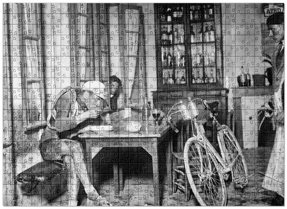Puzzle: Rast im Wirtshaus bei der Tour 1922