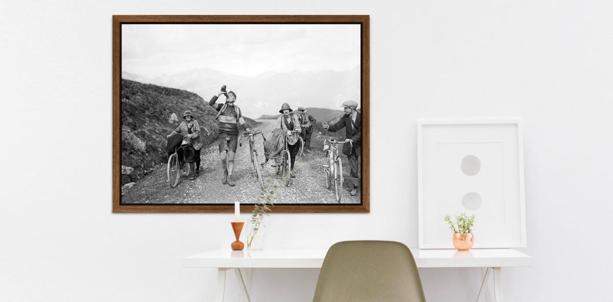 Trinkpause bei der Tour 1927 - Sport Fotografien als Wandbilder ...