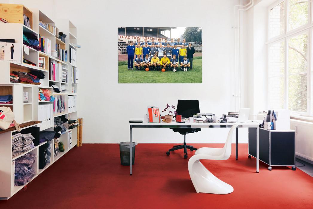 Mannschaftsfoto FC Carl Zeiss Jena aus den Siebzigern in deinem Büro - 11FREUNDE BILDERWELT
