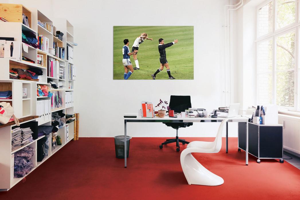 In deinem Büro: Jubel nach dem Abpfiff WM 1990 - 11FREUNDE BILDERWELT