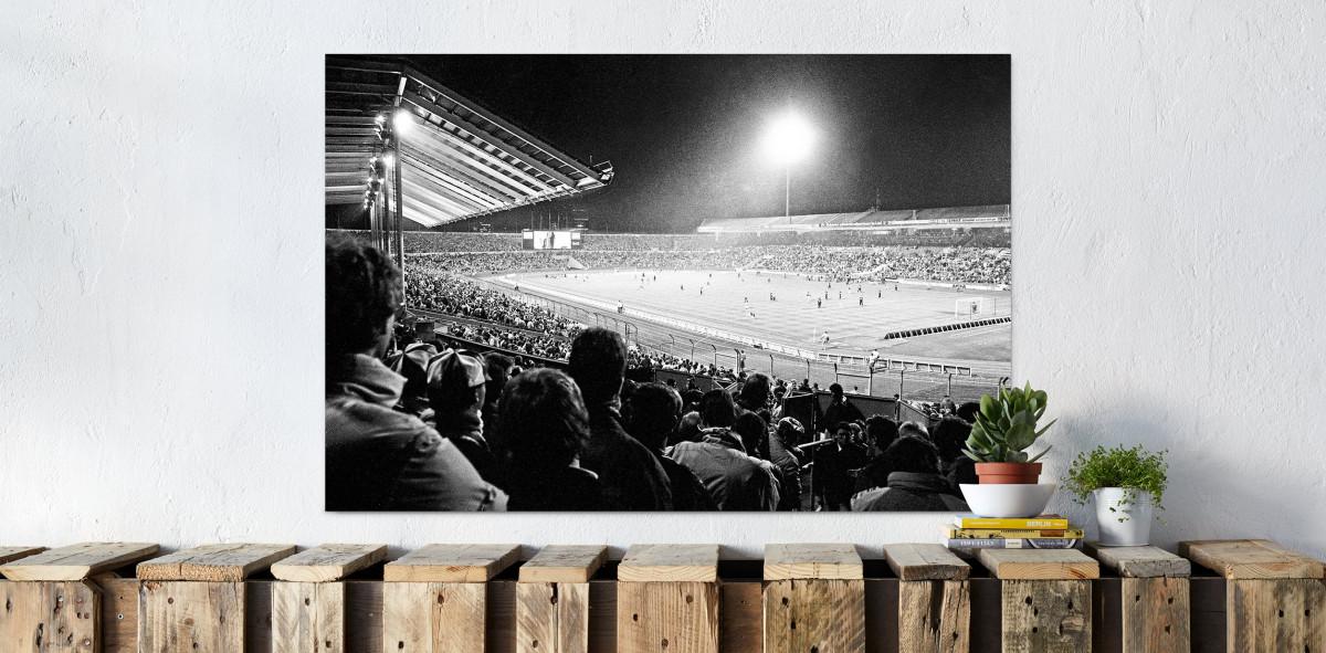 Neckarstadion 1989 - VfB Stuttgart - Fussbal Foto Wandbild - 11FREUNDE SHOP