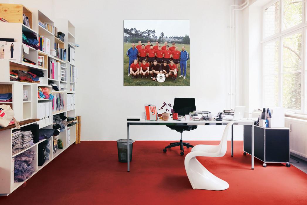 Mannschaftsfoto 1. FC Nürnberg 1968/69 in deinem Büro - 11FREUNDE BILDERWELT