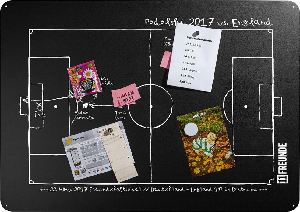 Magnettafel: Podolski 2017 - 11FREUNDE SHOP