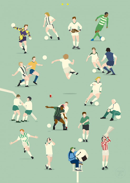 Gladbach Legends - Fußball Poster Hands Of God