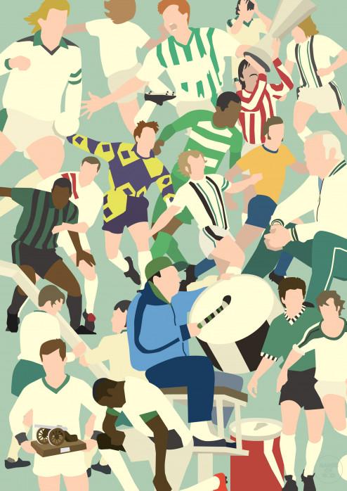 Gladbach Clash - Poster Borussia Mönchengladbach - Hands Of God