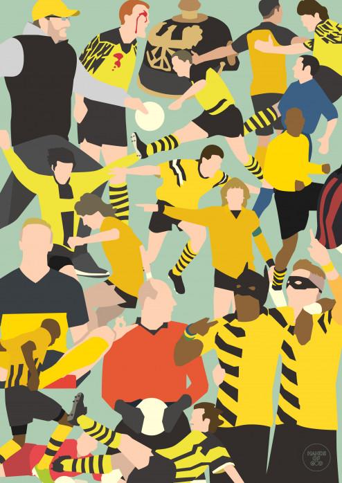 Dortmund Clash - Poster BVB - Hands Of God