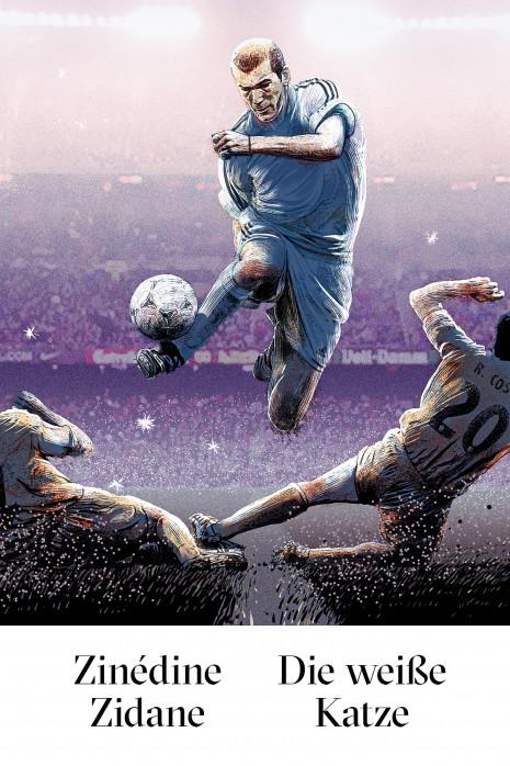 Zidane - Die weiße Katze - Illustration - 11FREUNDE SHOP