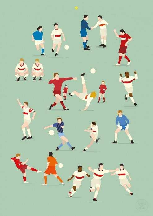 125 Jahre Brustring - Poster VfB Stuttgart - Hands Of God - 11FREUNDE SHOP