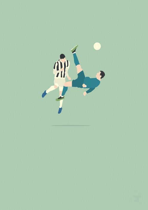Cristiano Fallrückzieher - Ronaldo Poster - 11FREUNDE SHOP