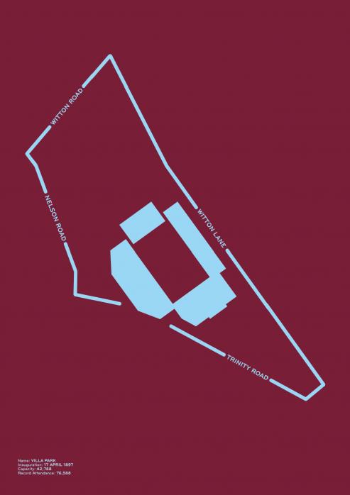 Piktogramm: Aston Villa - Poster bestellen - 11FREUNDE SHOP