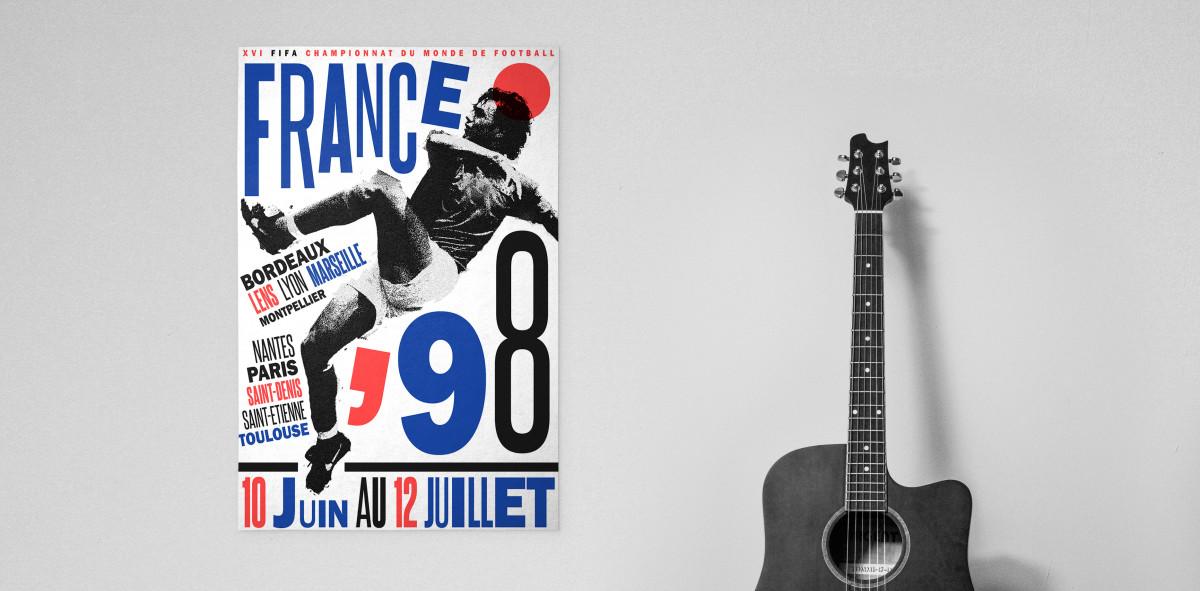 France 1998 - Poster bestellen - 11FREUNDE SHOP