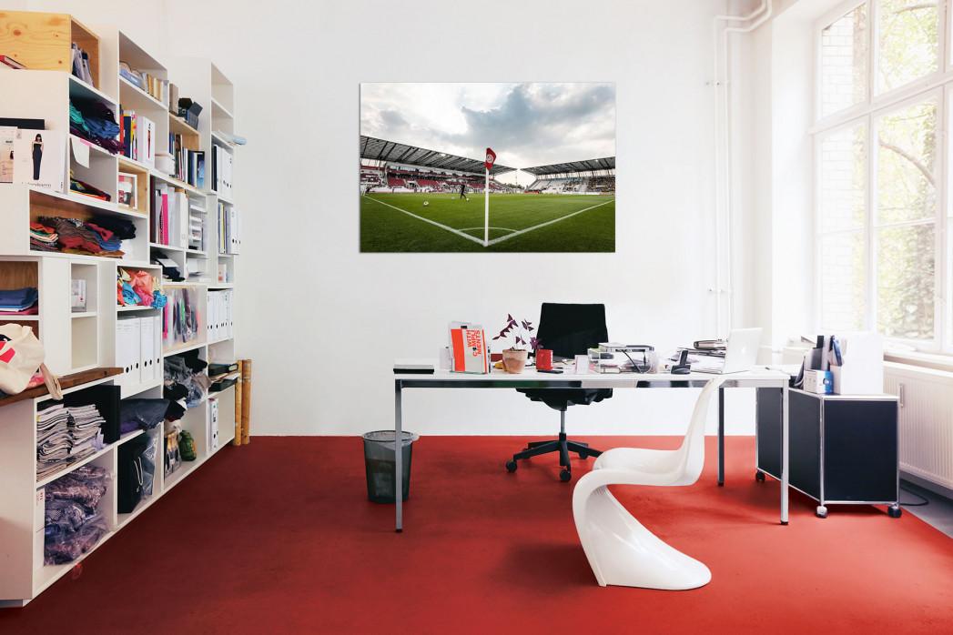In deinem Büro: Eckfahne Stadion Essen - 11FREUNDE BILDERWELT