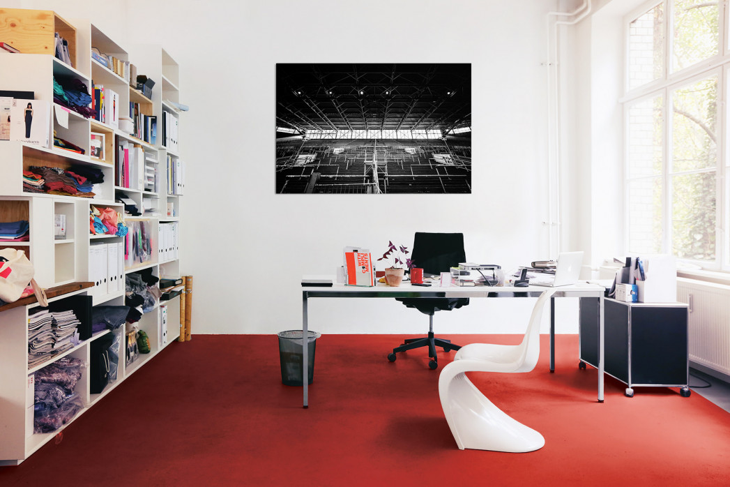 Leere Süd - Schwarzweiss (1) - Fußball Foto Wandbild - 11FREUNDE SHOP