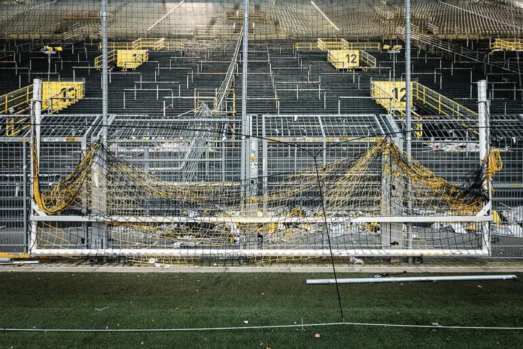 Leere Süd und Tor - Fußball Foto Wandbild - 11FREUNDE SHOP