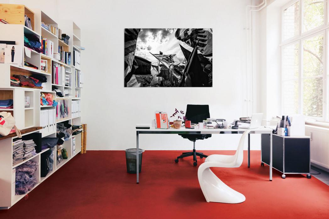 In deinem Büro: Preußen Münster Fahnen (schwarz/weiß) - 11FREUNDE BILDERWELT