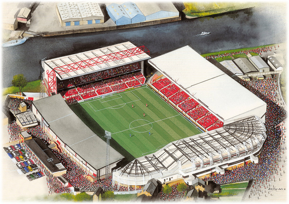 Stadia Art: City Ground - Poster bestellen - 11FREUNDE SHOP