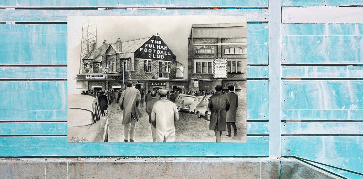 Stadia Art: Craven Cottage (outside) - Poster bestellen - 11FREUNDE SHOP