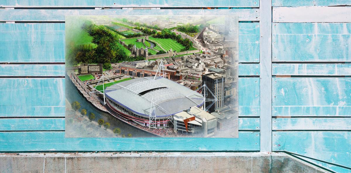 Stadia Art: Millennium Stadium - Poster bestellen - 11FREUNDE SHOP