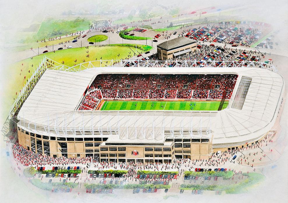 Stadia Art: Stadium Of Light - Poster bestellen - 11FREUNDE SHOP