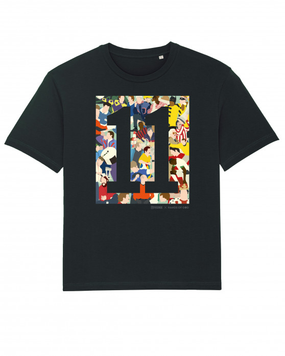 11FREUNDE Clash T-Shirt (Fairwear & Bio-Baumwolle) / Design: Hands Of God