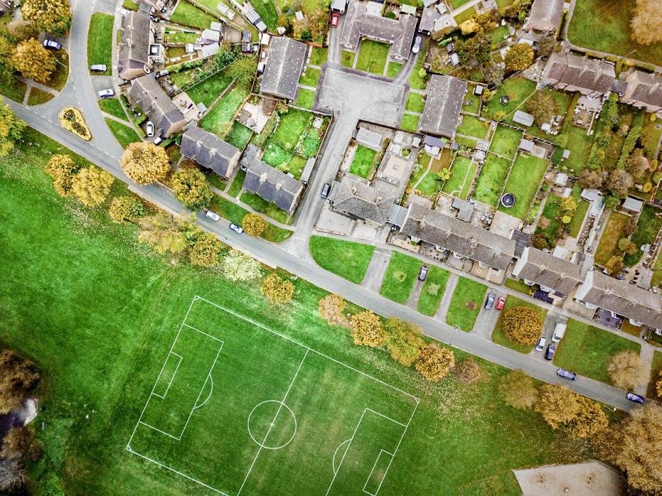 Fußballplatz in Shrewsbury - Wandbild - 11FREUNDE SHOP