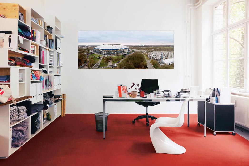In deinem Büro: Vogelperspektive Arena auf Schalke - 11FREUNDE BILDERWELT