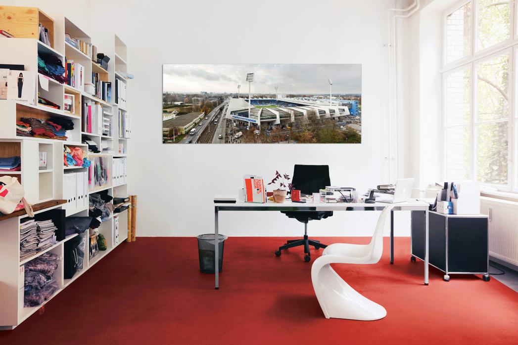 Vogelperspektive rewirpowerSTADION in deinem Büro - 11FREUNDE BILDERWELT
