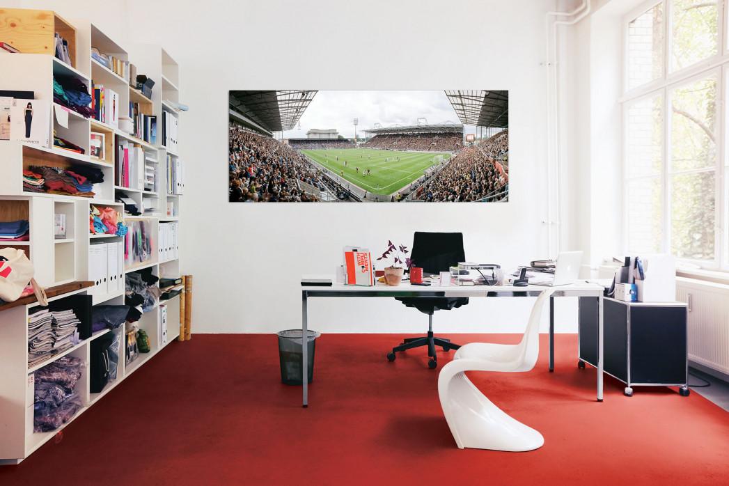 Das Stadion am Millerntor 2013 in deinem Büro - 11FREUNDE BILDERWELT
