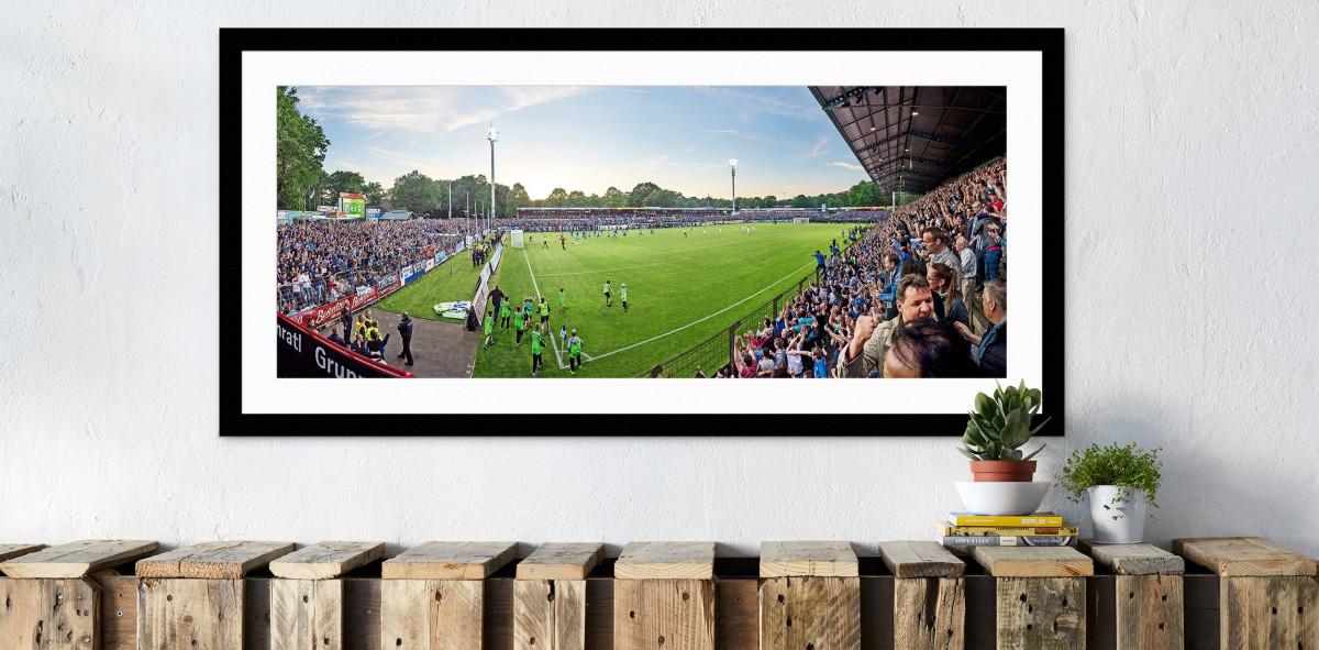SV Meppen - Emslandstadion - 11FREUNDE Stadionposter Motiv - Panorama-Wandbild