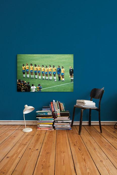 An deiner Wand: Brasilien 1974 Mannschaftsfoto - 11FREUNDE BILDERWELT