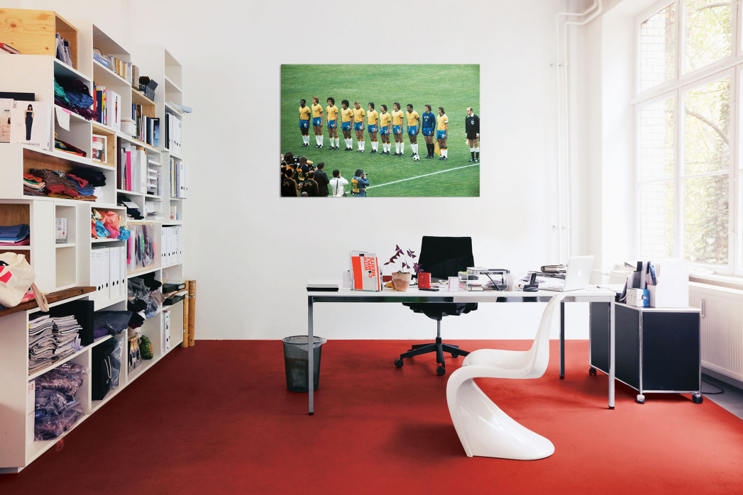 In deinem Büro: Brasilien 1974 Mannschaftsfoto - 11FREUNDE BILDERWELT