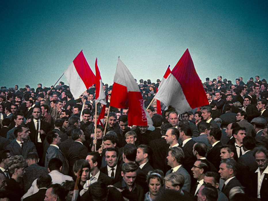 Düsseldorf Fans 1964 - Fußball Foto Wandbild - 11FREUNDE SHOP