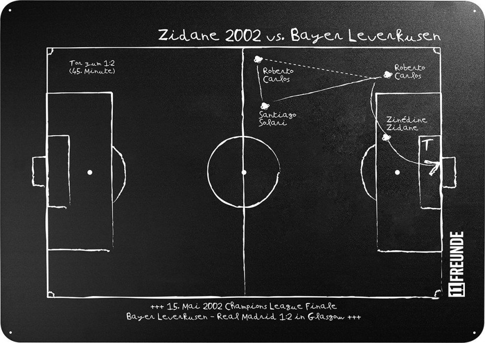 Magnettafel: Zidane 2002 - 11FREUNDE SHOP