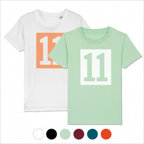 Kinder-Shirt - 11 Kasten-Logo (Fairwear & Bio-Baumwolle) - 11FREUNDE Textil