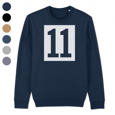 Sweatshirt - 11 Kasten-Logo (Fairwear & Bio-Baumwolle) | 11FREUNDE Textil