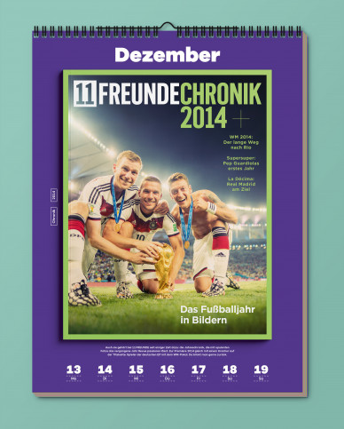 11FREUNDE Wochenkalender 2021: Die schönsten Cover aus 20 Jahren Fußballkultur - ISBN: 978-3-667-12000-7
