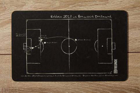 Frühstücksbrettchen: Arjen Robben 2013 Bayern München - Borussia Dortmund - 11FREUNDE SHOP