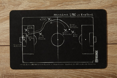 Frühstücksbrettchen Diego Maradona 1986 Argentinien vs. England