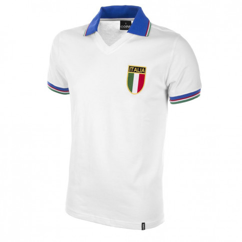 Italy Away World Cup 1982 Short Sleeve Retro Football Shirt