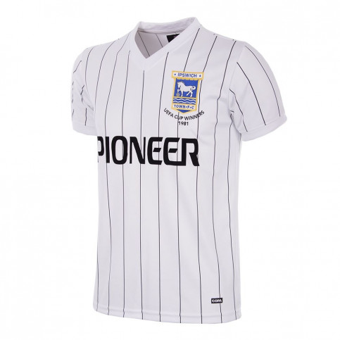 Ipswich Town FC Away 1981 - 82 Short Sleeve Retro Football Shirt