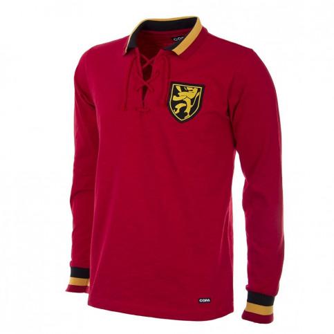 Belgium 1954 Long Sleeve Retro Football Shirt